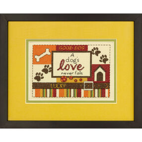 A Dog's Love Counted Cross Stitch_70-65124