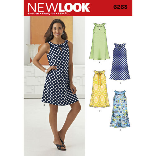New Look Pattern 6263 Misses' A- Line Dress