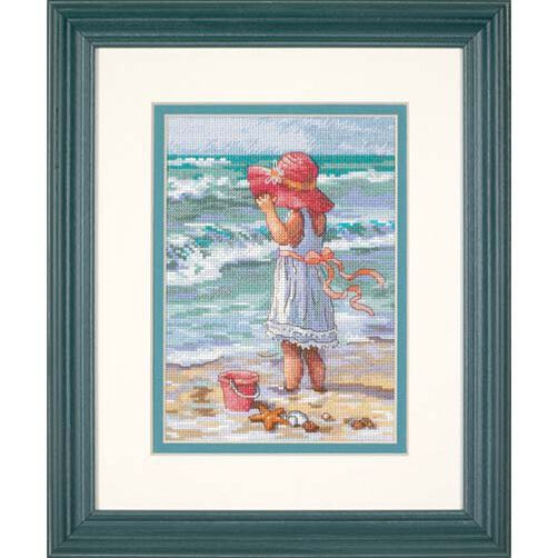 Girl at the Beach, Counted Cross Stitch_65078