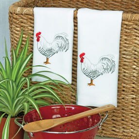 Rooster Guest Towels, Embroidery_72-73886