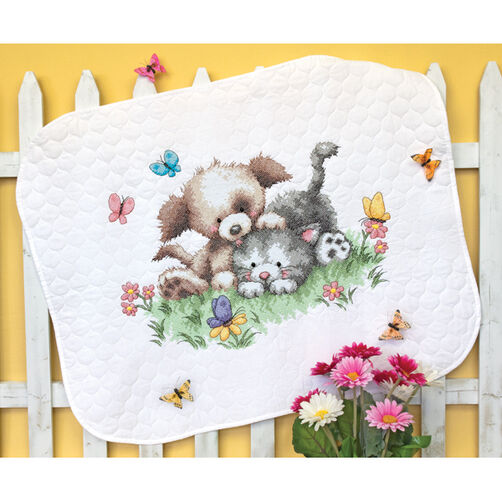 Pet Friends Quilt Stamped Cross Stitch_70-73882