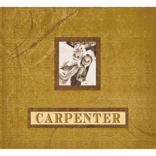 Simply K 12x12 Carpenter Frame-A-Name Scrapbook_528567