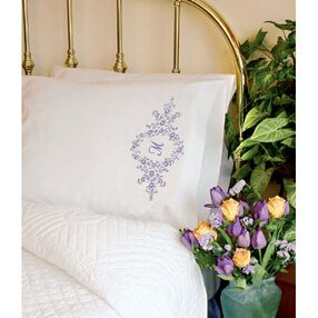 Daisy Monogram Pillow Cases, Embroidery_73050