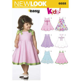New Look Pattern 6688 Toddler Separates