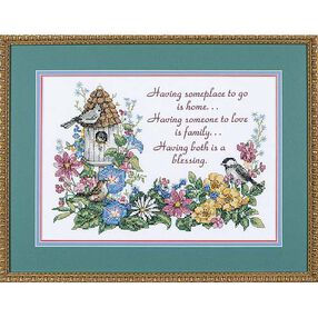 Flowery Verse, Stamped Cross Stitch_03160