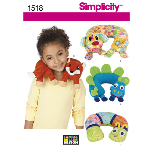 Simplicity Pattern 1518 Child's Animal Neck Pillows