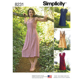 Simplicity Pattern 8231 Misses' Dress in Two Lengths