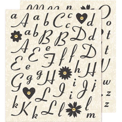 Black Alphabet Die-cut Sticker _30-588240