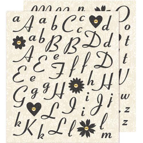Black Alphabet Die-cut Sticker _30-588240