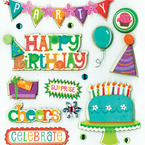 Birthday Wishes Dimensional Sticker  _30-578166