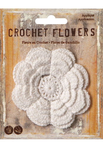 "3"" Crochet Flower Applique"