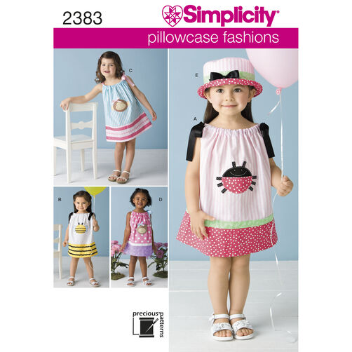 Simplicity Pattern 2383 Toddlers' Dresses