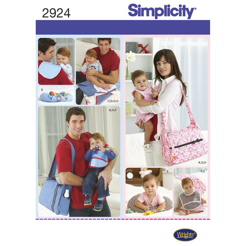 Simplicity Pattern 2924 Diaper Bag & Accessories