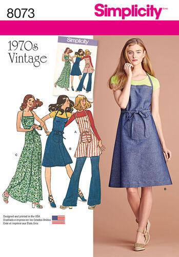 Vintage 1970's Apron Dress
