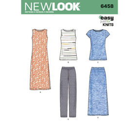New Look Pattern 6458 Misses' Easy Knit Separates