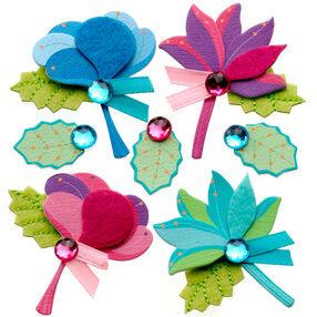 Stitched Flower Bouquet Stickers_50-21291