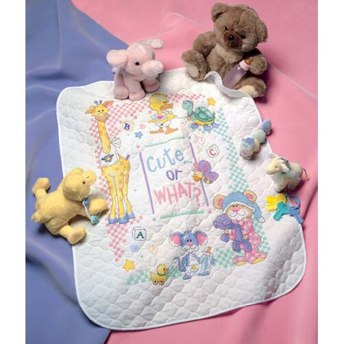 Cute…Or What? Baby Quilt, Stamped Cross Stitch_72724