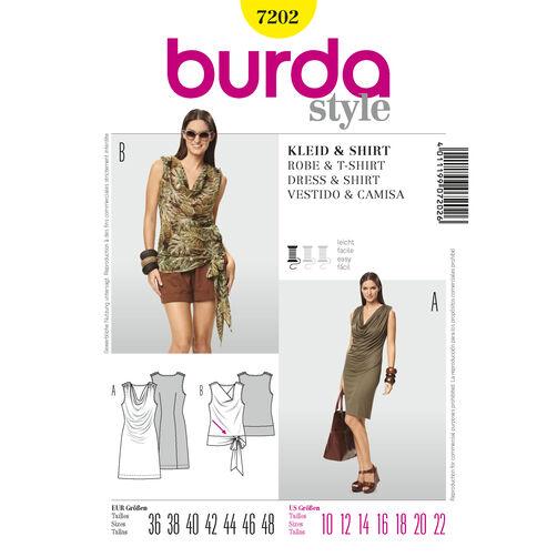 Burda Style Pattern 7202 Dress & T-Shirt