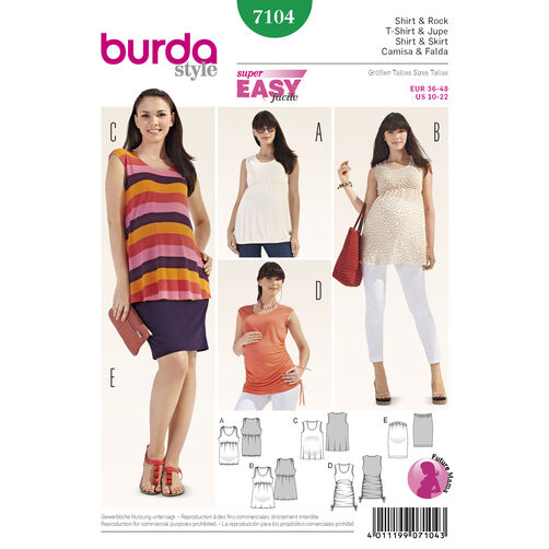 Burda Style Pattern 7104 Shirt & Skirt