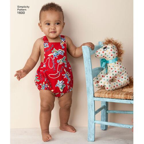 Pattern For Babies Vintage Romper Set Simplicity