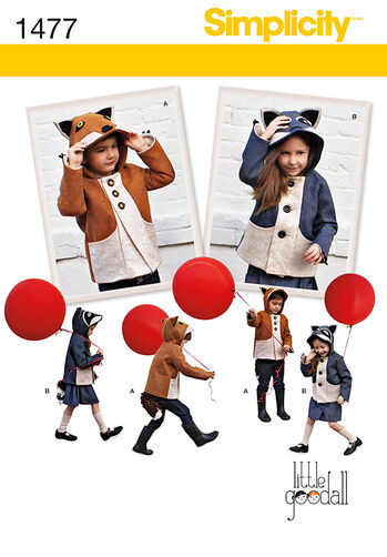 Child's Fox and Racoon Felt Jacket
