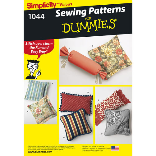 Home Decorating For Dummies: Pattern For Pillows In Various Styles