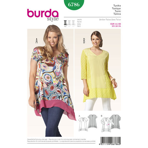 Burda Style Pattern 6786 Plus to size 60 (34)