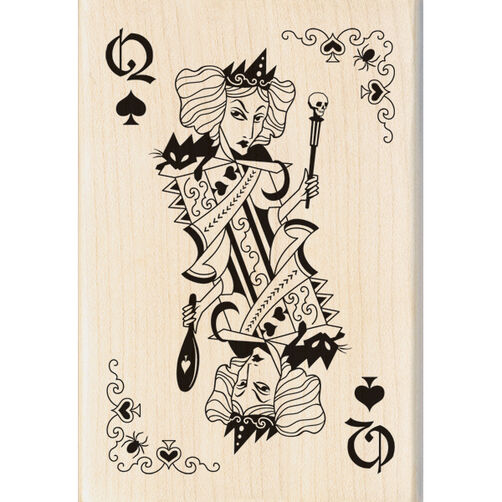 Witch Queen Playing Card Wood Stamp_60-00921
