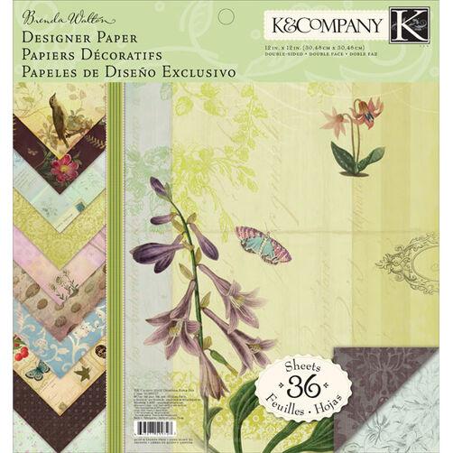 Brenda Walton Flora & Fauna12x12 Designer Paper Pad_30-599727