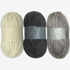 Neutral Wool Pencil Roving Trio, Needle Felting_72-73933