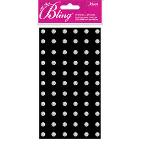 Bling - Silver Large Gems Dimensional Stickers_52-80034