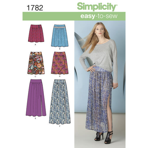 Simplicity Pattern 1782 Misses' Skirt