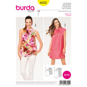 Burda Style Pattern B6555 Misses' Collar Top and Dress