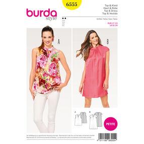 Burda Style Pattern B6555 Misses' Collar Top and Dress