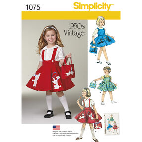 Simplicity Pattern 1075 Child's Jumper, Skirt and Bag