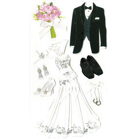 Bride And Groom Stickers_SPJBLG492