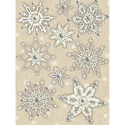 Christmas Cheer Snowflake Stickers with Gems_569294
