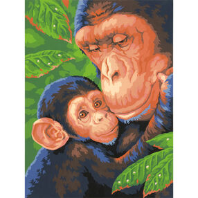 Chimp & Baby, Paint by Number_73-91470
