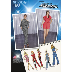 Simplicity Pattern 1158 Misses' Project Runway Jumpsuits