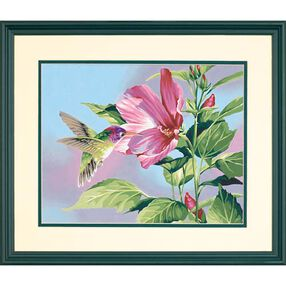 Hibiscus Hummingbird, Paint by Number_91419