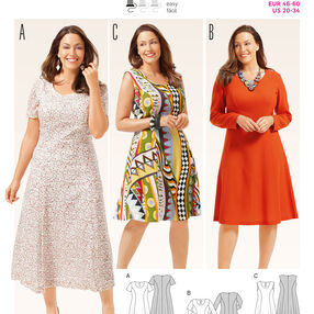 Burda Style Pattern 6680 Women's Dress