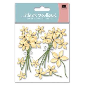 Cream Floral Stickers_SPJB227