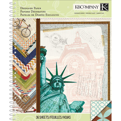 Tim Coffey Travel 8.5x11 Designer Paper Pad_30-681811