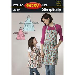 It's So Easy Misses' & Child's Apron