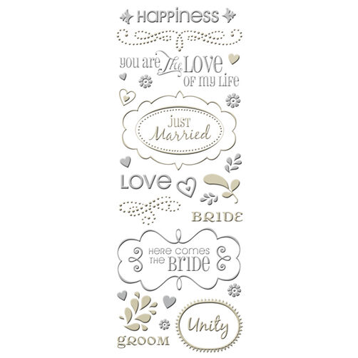 Tie the Knot Foil Sculpted Embossed Stickers_30-136731