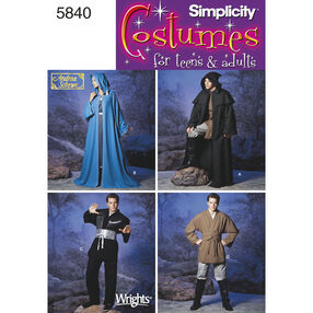Simplicity Pattern 5840 Adults' & Teens' Costumes