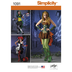 Simplicity Pattern 1091 Misses' Super Villainess Costumes