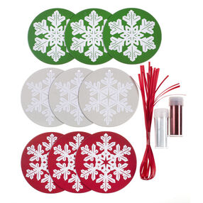 DIY Christmas Glitter Snowflake Ornament Kit_48-30276