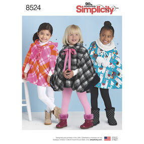 Simplicity Pattern 8524 Child's Poncho