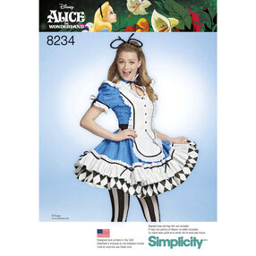 Simplicity Pattern 8234 Misses' Alice in Wonderland Cosplay Costume
